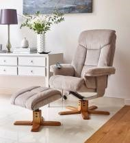 Exmouth Massage Swivel Recliner & Footstool