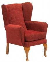 Traditional Queen Anne Winged High Back Chair