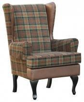 Stirling Tartan High Back Winged Chair £332.00